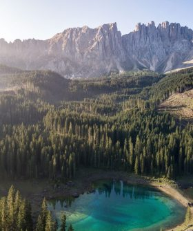 Lac de Carezza en drone