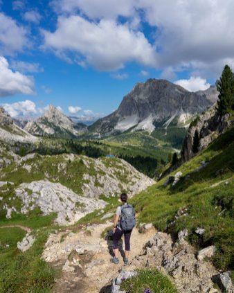 Début de la randonnée pour Cinque Torri