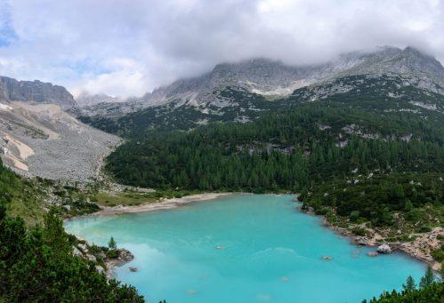 Lago di sorapis vue du dessus