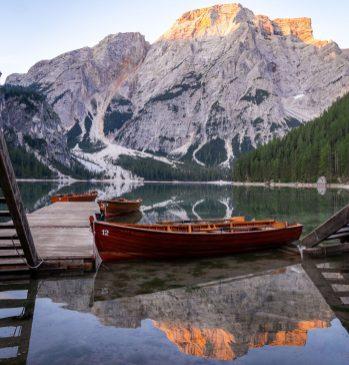 La barque sur Lago di braies