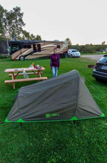Nous n'avons pas les mêmes tentes
