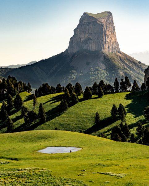 Le magnifique Mont Aiguille dans le Vercors
