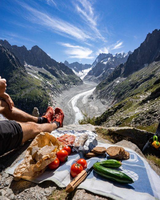 Repas devant la Mer de Glace