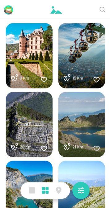 Vue card sur Prairy App