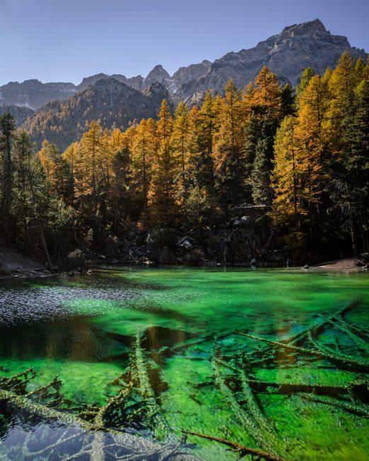 Une couleur incroyable pour ce Lac Vert