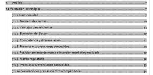 Informe de valoración de proyectos tecnológicos