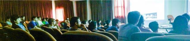 Foto da plateia presente ao evento