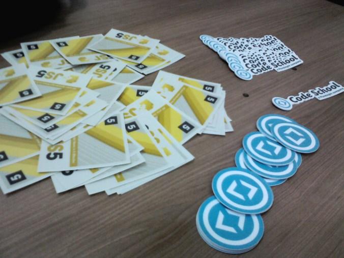 Stickers e adesivos do #JavaScriptCamp