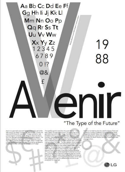 Type Specimen with feedback given