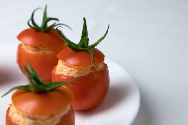 Cherry-Tomaten mit Fetafüllung