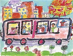 Bozos on the Bus Tasha Paley Art