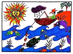Going Fishing Tasha Paley Art