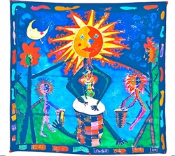 Sun Drummer Tasha Paley Art
