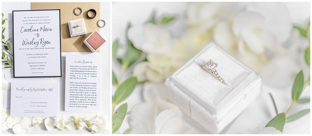 Ecker Wedding Invitation and ring