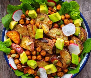 Roasted Sweet Potato & Chickpea Salad vegan glutenfree healthy recipe
