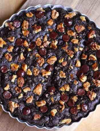 Fudgy Avocado Brownies healthy vegan eggless dairy free easy baking