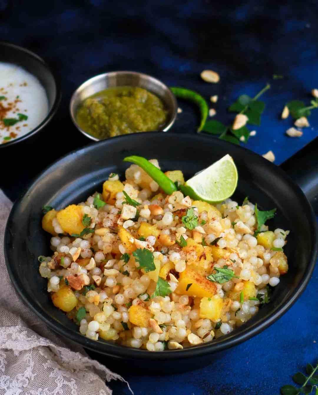 Sabudana Khichdi / Sago Pearl Pilaf Vrat ka Khana Indian Food Vegan Glutenfree