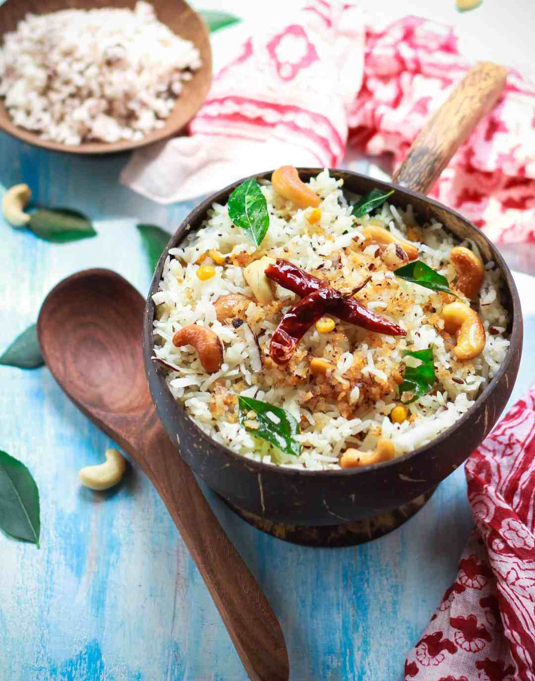 Coconut Rice | South Indian Style | Glutenfree Healthy