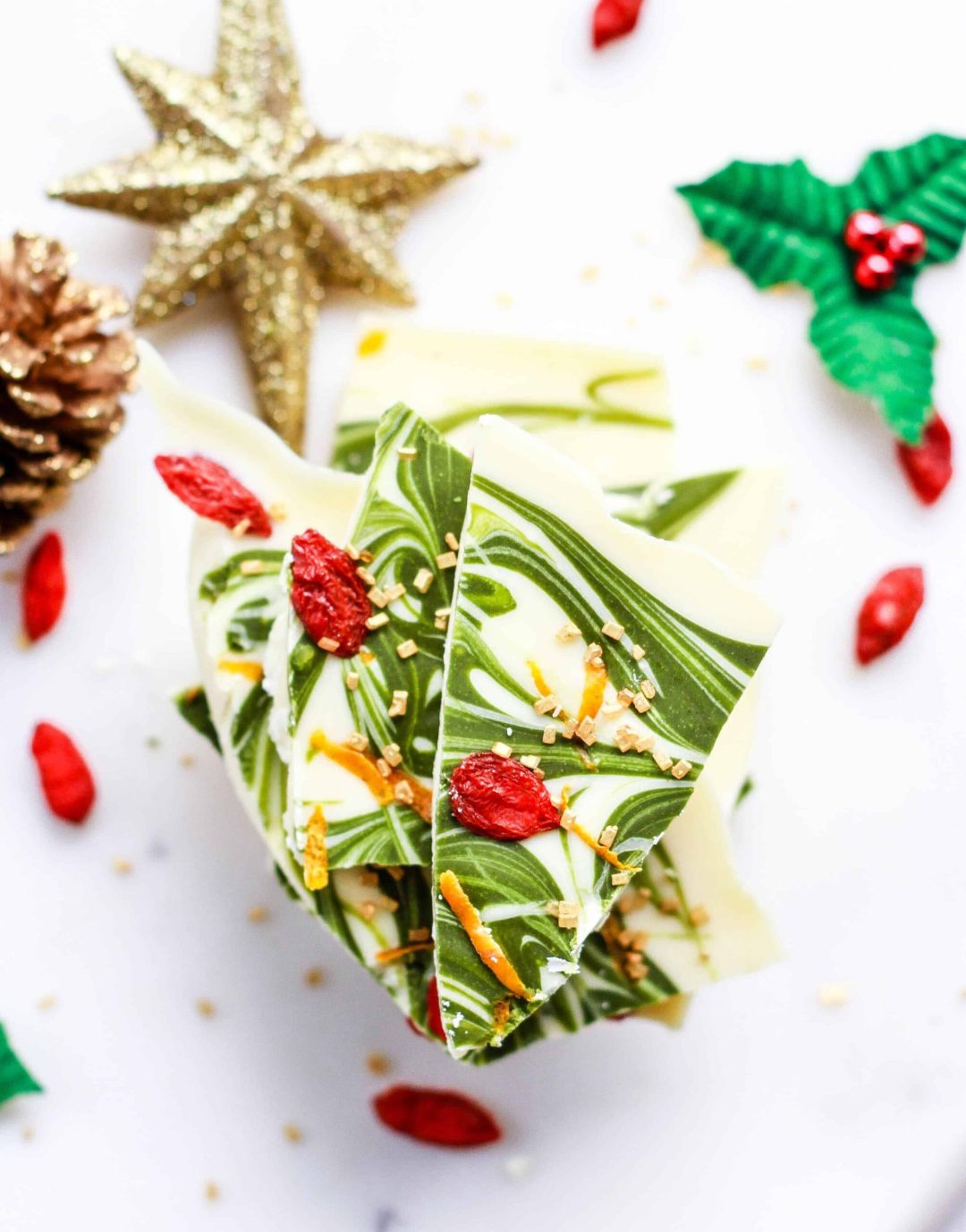 Matcha White Chocolate Bark easy Holiday recipe