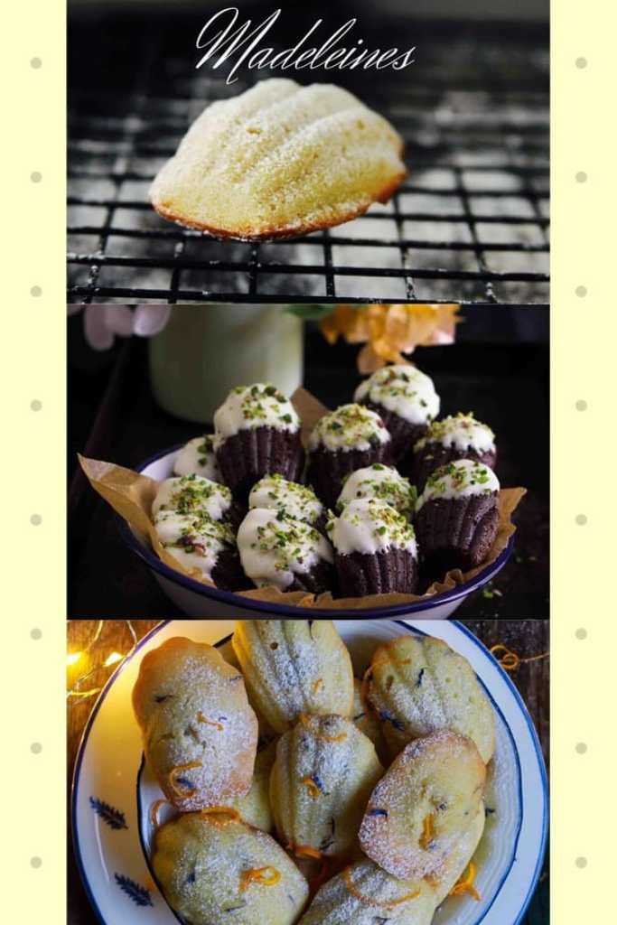 Madeleines from the blog - Lemon Lavender | Chocolate | Orange
