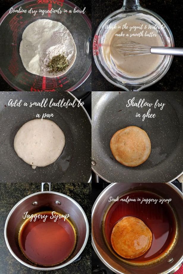 Process of Easy Malpua Recipe Indian Dessert Festive Food