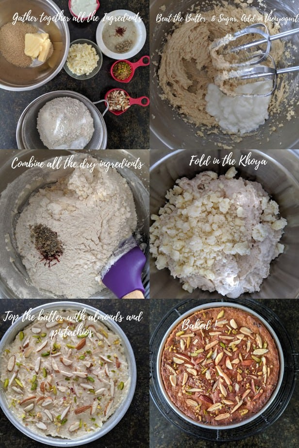 Process of making Mawa Cake