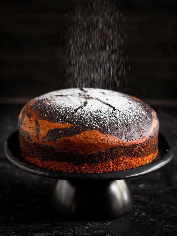 Easy Eggless Stovetop Marble Cake | Vegan Recipe | Chocolate Cake
