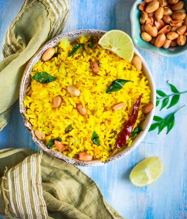 Lemon Rice | How To Make Lemon Rice | Easy Vegan Gluten-Free Recipe
