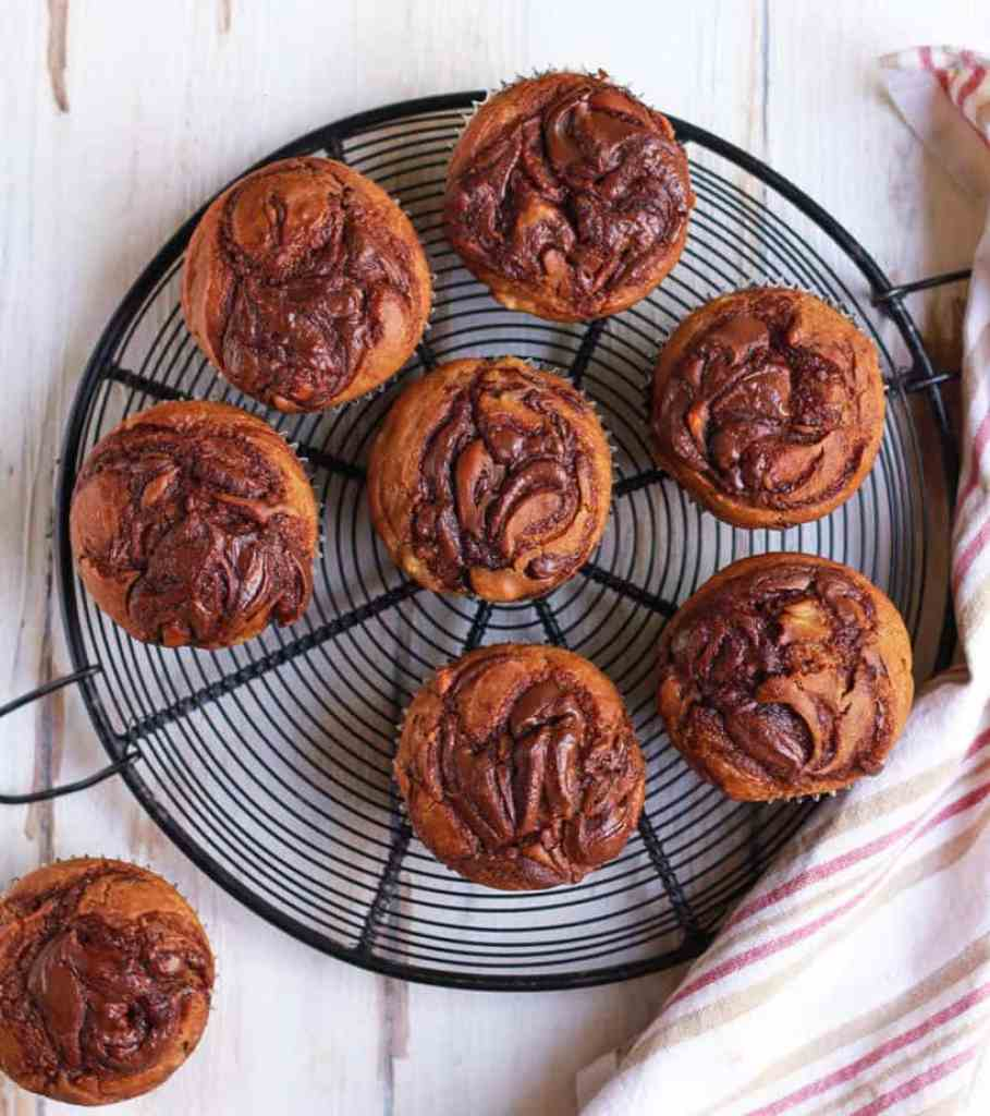 Nutella Banana Muffins | Easy eggless recipe
