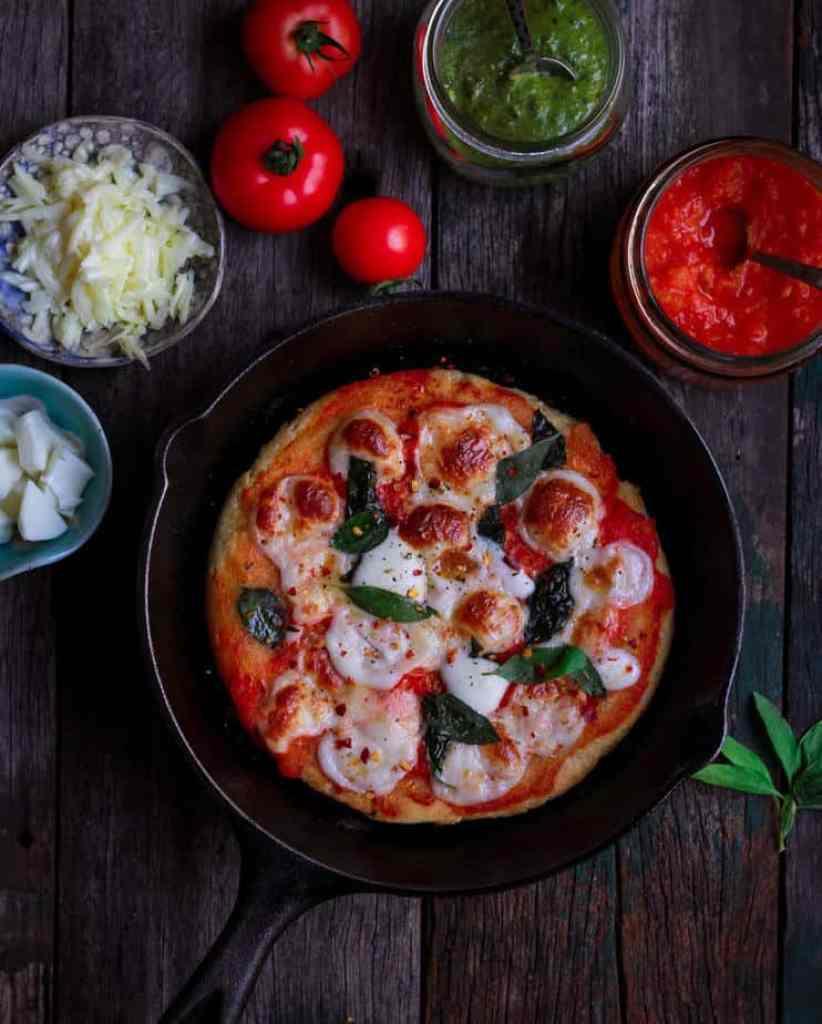 No-Yeast Stovetop Pizza| Easy pizza recipe