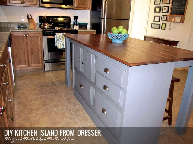 DIY Kitchen Island From A Dresser | Tasha Wiginton on double dresser island, dresser bar, dresser with many drawers, dresser desk, dresser into island, closet island, dresser entertainment center, dresser hutch, dresser wine rack, dresser chair, dresser bedroom, dresser projects, dresser in kitchen, dresser cabinets, dresser storage,