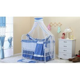 Blue Multifunctional Baby Crib