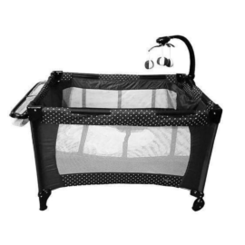 travel cot black