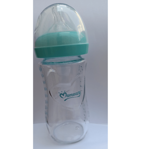 Mom easy glass feeding bottle