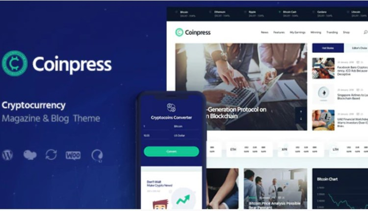 Coinpress Cryptocurrency Blog Theme