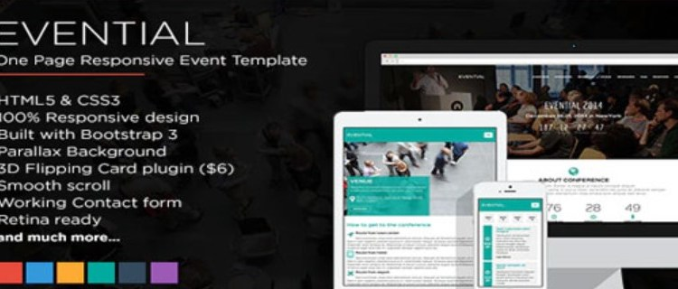 Evential One Page Responsive WordPress Theme