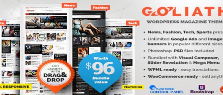 GOLIATH Ads Optimized News and Reviews Magazine Theme