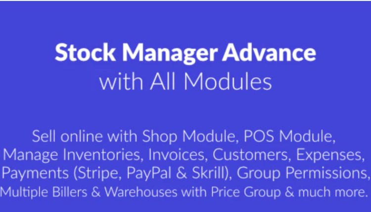 Stock Manager Advance With All Modules Script