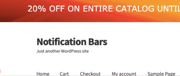Top Bar for WooCommerce