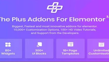 Plus Add on for Elementor Page Builder plugin