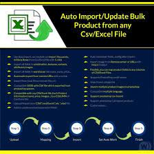 Import / Update Bulk Product From Any Csv V1.0.70