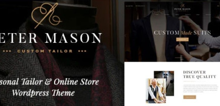 Peter Mason Custom Tailoring and Clothing Store Theme
