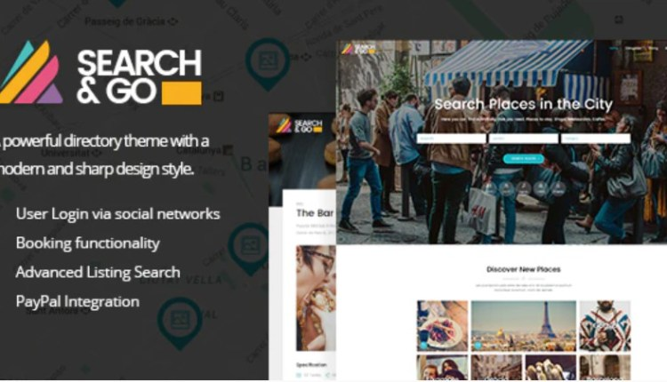 Search & Go Modern and Smart Directory Theme