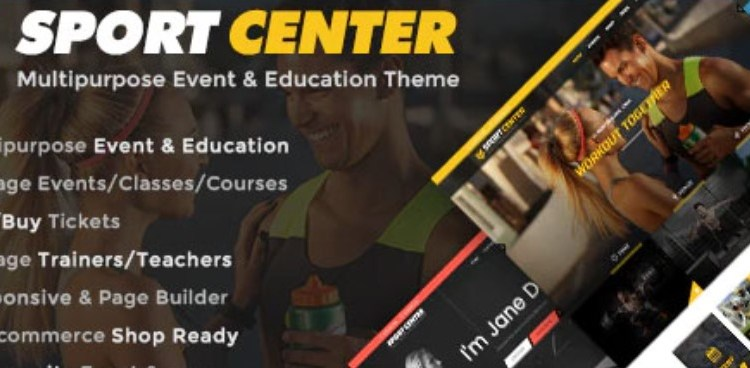 Sport Center Events and Education WordPress Theme