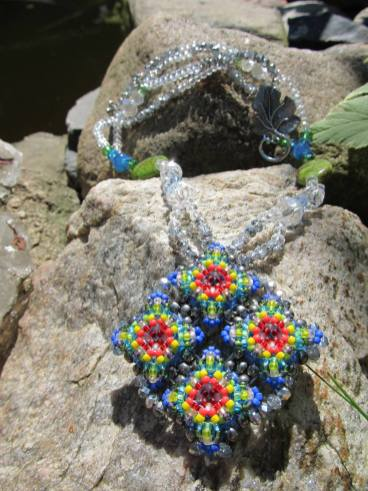 Multi-Color Diamond Patience in Bloom Necklace