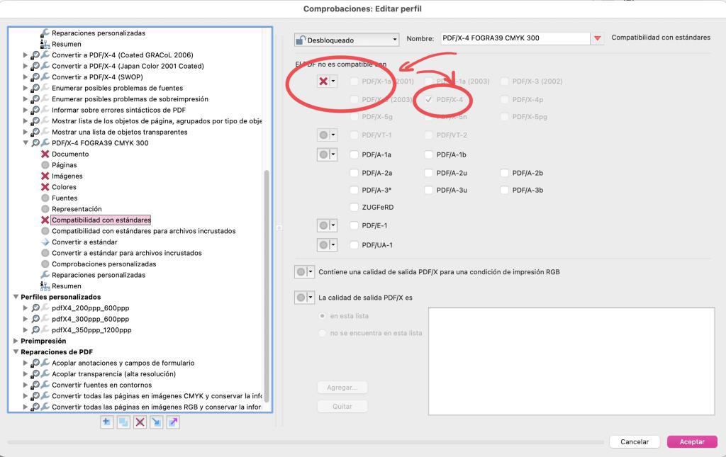 Arte final. Adobe Acrobat.Compatibilidad con estandares