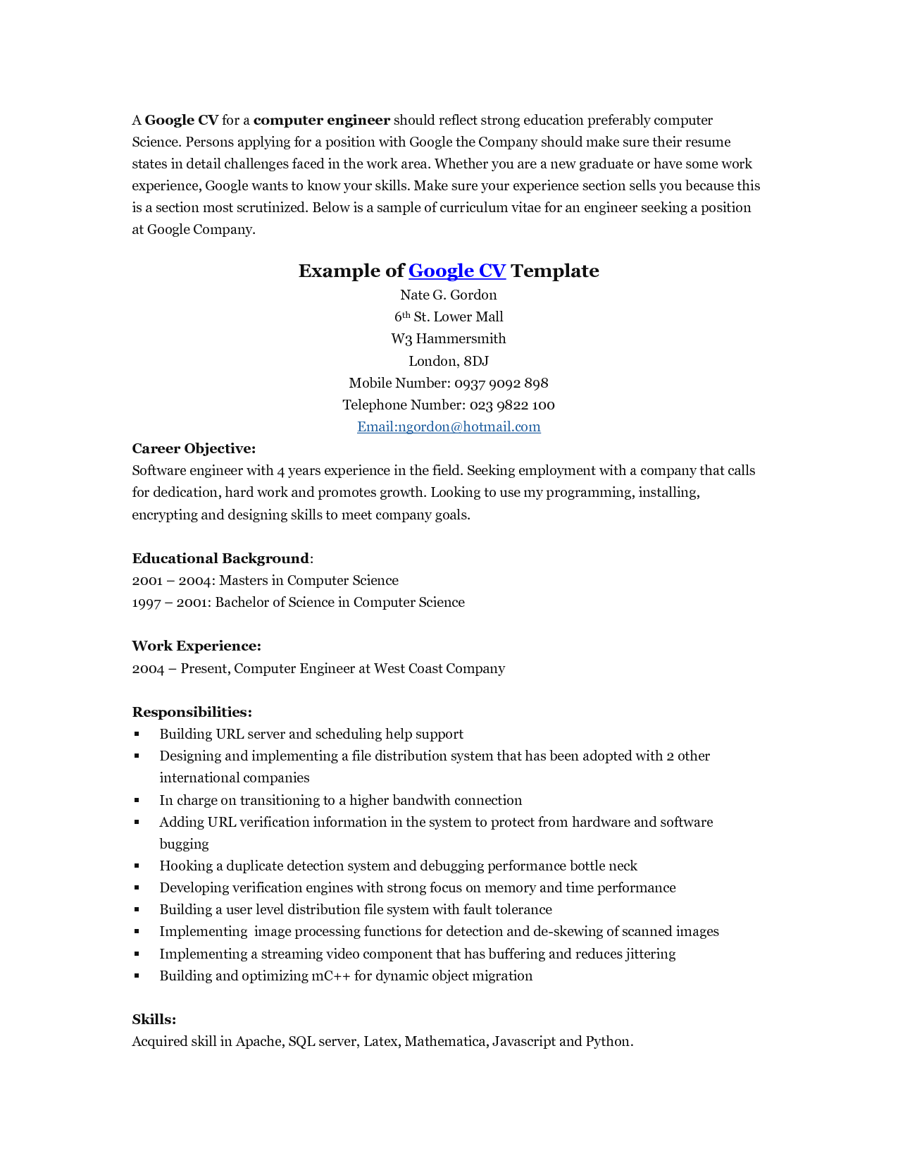 Google Docs Resumes Templates Google Resume Examples Task List Templates