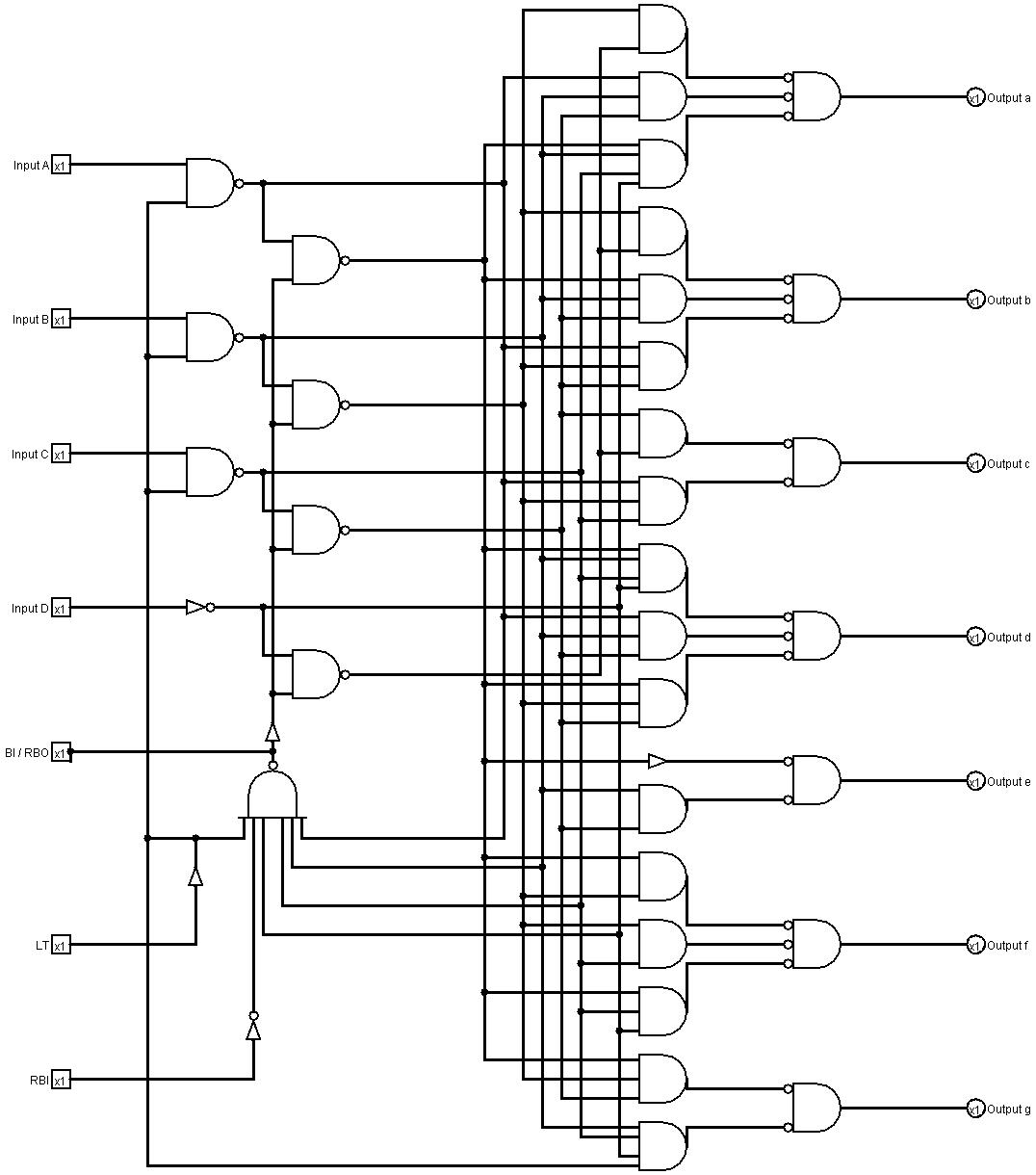 Segmenttobcd1 Basiccircuit Circuit Diagram Seekiccom