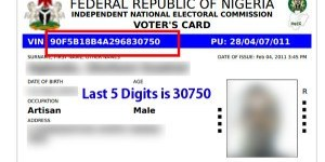 Sample of A Temporary Voter's Card