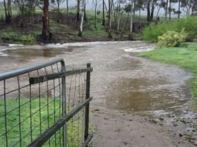 The White Kangaroo River in flood.